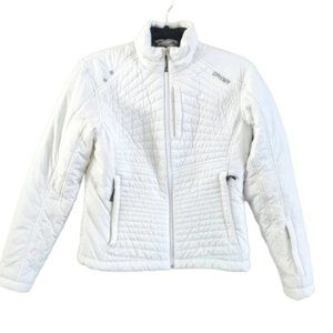 Spyder Quilted Puffer Winter Jacket White 6